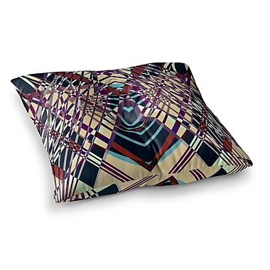 East Urban Home Pia Schneider Sweeping Line Pattern I-E Geometric Square Floor Pillow; 26'' x 26''