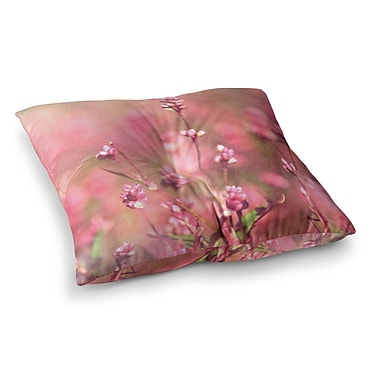 East Urban Home Robin Dickinson Its a Sweet Sweet Life Flowers Square Floor Pillow; 23'' x 23''