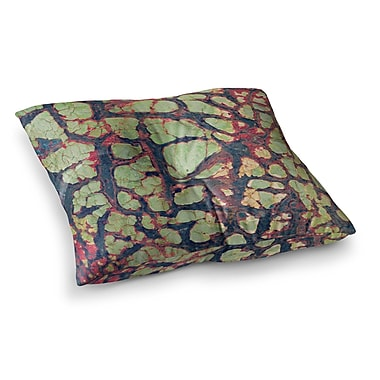 East Urban Home Robin Dickinson Pretty Patina Bark Square Floor Pillow; 26'' x 26''