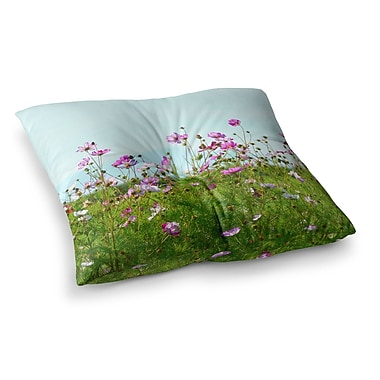 East Urban Home Robin Dickinson I Choose Magic Flowers Square Floor Pillow; 26'' x 26''