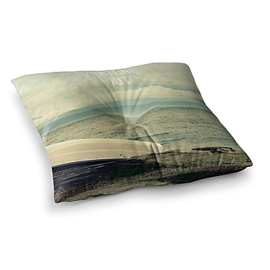 East Urban Home Robin Dickinson Venture Out Boat Square Floor Pillow; 23'' x 23''