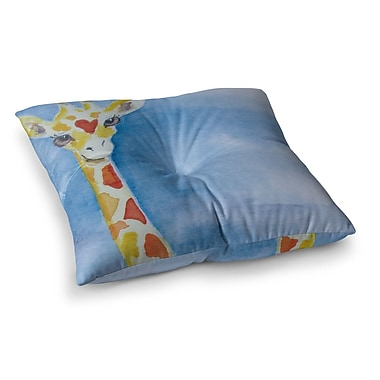 East Urban Home Padgett Mason Topsy Square Floor Pillow; 26'' x 26''