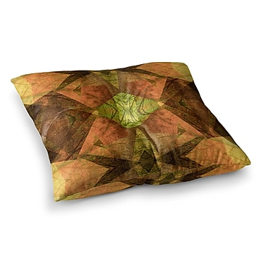 East Urban Home Pia Schneider Pattern Garden No7 Mixed Media Square Floor Pillow; 23'' x 23''