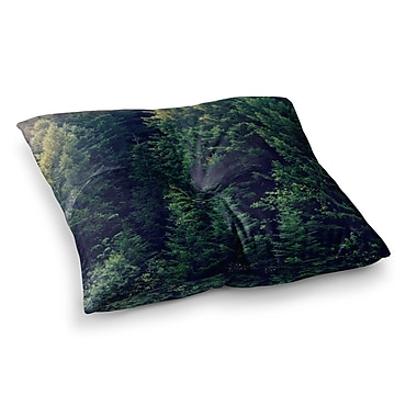 East Urban Home Robin Dickinson Red in Woods Forest Square Floor Pillow; 26'' x 26''