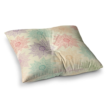 East Urban Home Pom Graphic Design Spring Florals Square Floor Pillow; 23'' x 23''
