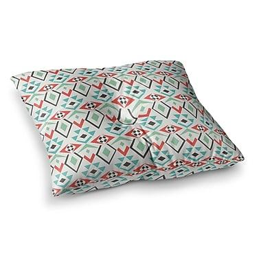 East Urban Home Pom Graphic Design Tribal Marrakech Square Floor Pillow; 26'' x 26''