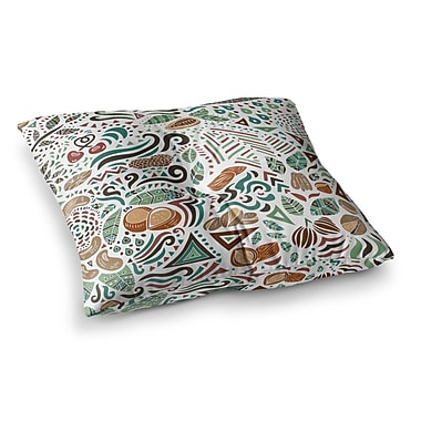 East Urban Home Pom Graphic Design Nuts For Love Illustration Square Floor Pillow; 26'' x 26''