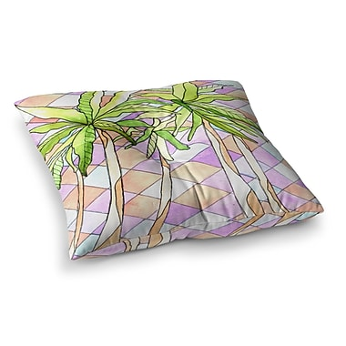 East Urban Home Rosie Brown Geometric Tropic Square Floor Pillow; 23'' x 23''