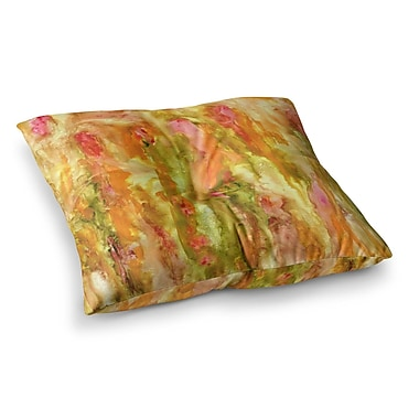 East Urban Home Rosie Brown Walk in the Forest Square Floor Pillow; 26'' x 26''