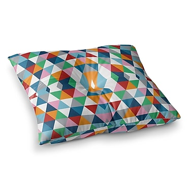 East Urban Home Project M Geometric Square Floor Pillow; 26'' x 26''