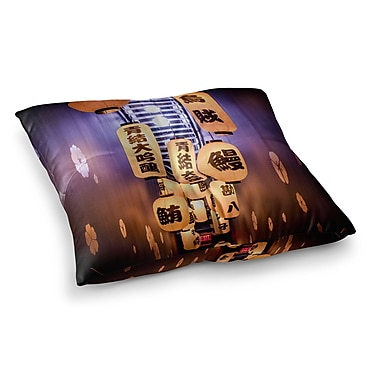 East Urban Home Juan Paolo Kyoto Travel Square Floor Pillow; 26'' x 26''
