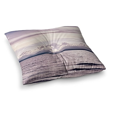 East Urban Home Robin Dickinson on the Other Side; Mountains Photography Digital Square Floor Pillow