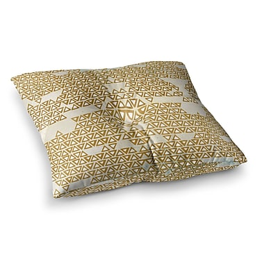 East Urban Home Pom Graphic Design Mint and Empire Geometric Square Floor Pillow; 23'' x 23''