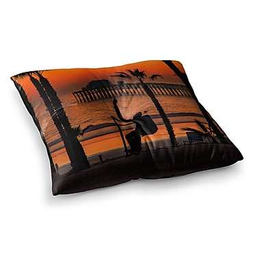 East Urban Home Juan Paolo Endless Summer Square Floor Pillow; 23'' x 23''