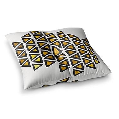 East Urban Home Pom Graphic Design Inca Tribe Square Floor Pillow; 26'' x 26''