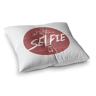 East Urban Home Juan Paolo Let Me Take a Selfie Square Floor Pillow; 26'' x 26''