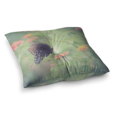East Urban Home Robin Dickinson Captivating II Flower Square Floor Pillow; 26'' x 26''
