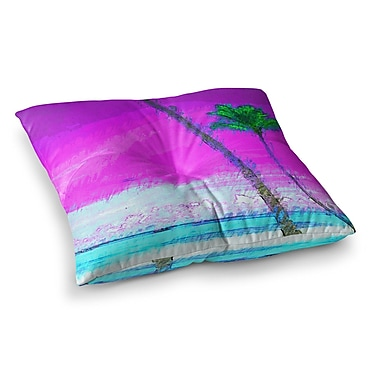 East Urban Home Oriana Cordero Caribe S Square Floor Pillow; 23'' x 23''