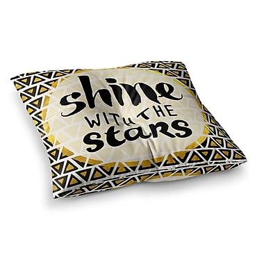 East Urban Home Pom Graphic Design Shine w/ the Stars Square Floor Pillow; 26'' x 26''