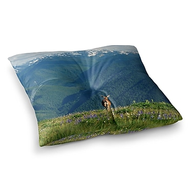 East Urban Home Robin Dickinson Nature's Calling Square Floor Pillow; 23'' x 23''