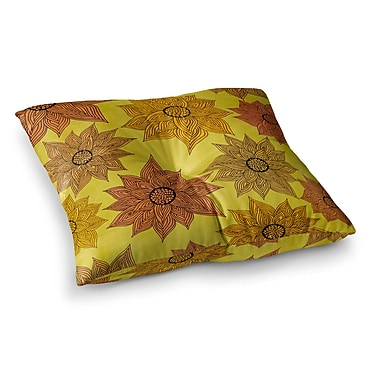 East Urban Home Pom Graphic Design It's Raining Flowers Square Floor Pillow; 26'' x 26''