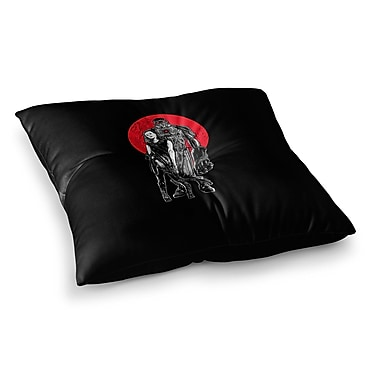 East Urban Home BarmalisiRTB Heavy Weapon Digital Square Floor Pillow; 23'' x 23''