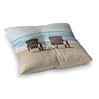 East Urban Home Sylvia Cook a Great View Travel Square Floor Pillow; 26'' x 26''