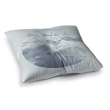 East Urban Home Suzanne Carter Feathers Square Floor Pillow; 26'' x 26''