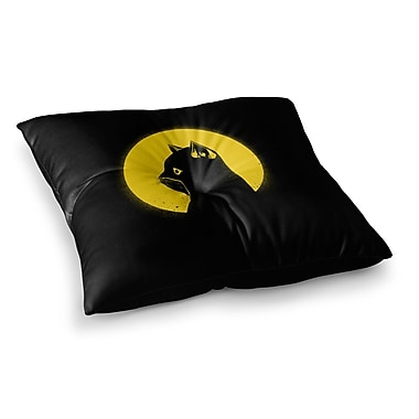 East Urban Home BarmalisiRTB Hero Cat Digital Square Floor Pillow; 23'' x 23''