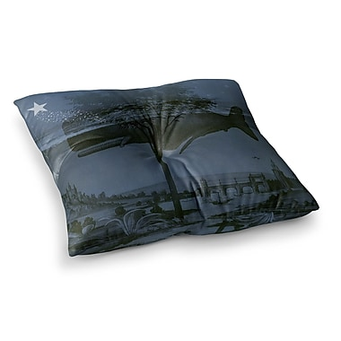 East Urban Home Suzanne Carter Whale Watch Illustration Square Floor Pillow; 23'' x 23''
