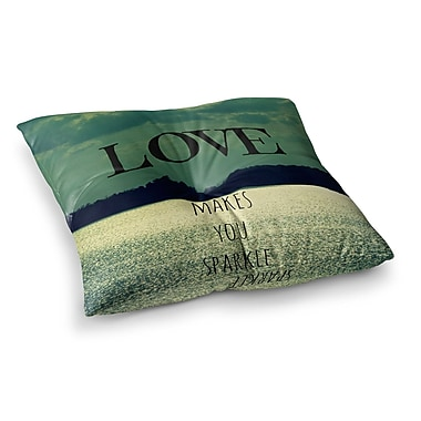 East Urban Home Robin Dickinson Love Makes You Sparkle Square Floor Pillow; 23'' x 23''