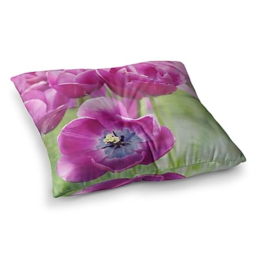 East Urban Home Sylvia Cook Tulips Photography Square Floor Pillow; 26'' x 26''