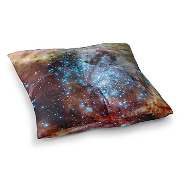 East Urban Home Suzanne Carter Star Cluster Space Square Floor Pillow; 26'' x 26''