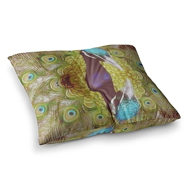 East Urban Home Suzanne Carter Reflected Peacock Square Floor Pillow; 26'' x 26''