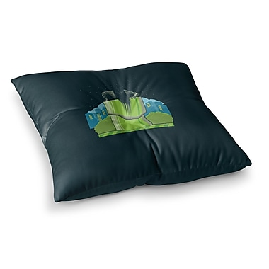 East Urban Home BarmalisiRTB The Wrong Hole Digital Square Floor Pillow; 26'' x 26''