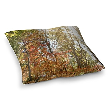 East Urban Home Sylvia Coomes Autumn Trees 1 Square Floor Pillow; 26'' x 26''