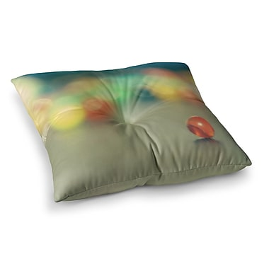 East Urban Home Sylvia Coomes Marble Bokeh Abstract Square Floor Pillow; 26'' x 26''