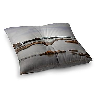 East Urban Home Sylvia Coomes Dark Sea Coastal Square Floor Pillow; 23'' x 23''