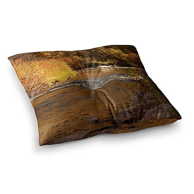 East Urban Home Sylvia Coomes Autumn Stream Square Floor Pillow; 26'' x 26''