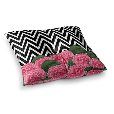 East Urban Home Suzanne Carter Camellia Chevron Flower Square Floor Pillow; 23'' x 23''