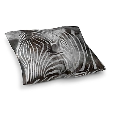 East Urban Home Suzanne Carter Space Zebra Celestial Stripes Square Floor Pillow; 26'' x 26''