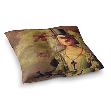 East Urban Home Suzanne Carter The Key Portrait Square Floor Pillow; 23'' x 23''