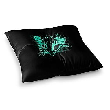 East Urban Home BarmalisiRTB Angry Cat Digital Square Floor Pillow; 26'' x 26''
