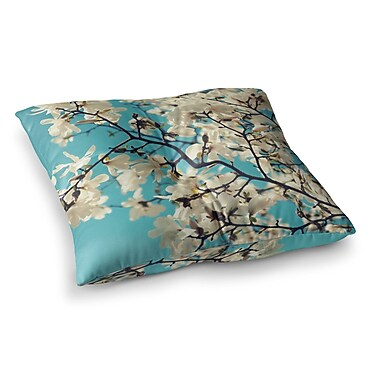 East Urban Home Sylvia Cook Magnolias Square Floor Pillow; 23'' x 23''
