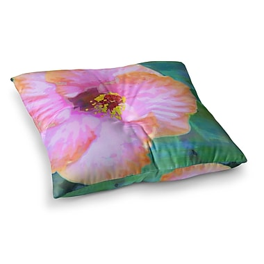 East Urban Home Sylvia Cook Hibiscus Square Floor Pillow; 26'' x 26''