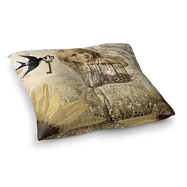 East Urban Home Suzanne Carter Key Square Floor Pillow; 23'' x 23''