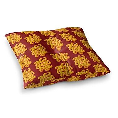 East Urban Home Roberlan New York City Brush Pattern Vector Square Floor Pillow; 26'' x 26''