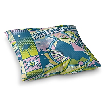 East Urban Home Roberlan Sunset Boulevard Digital Square Floor Pillow; 26'' x 26''