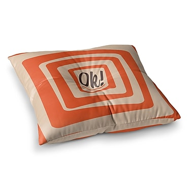 East Urban Home Roberlan So Ok Vector Square Floor Pillow; 26'' x 26''