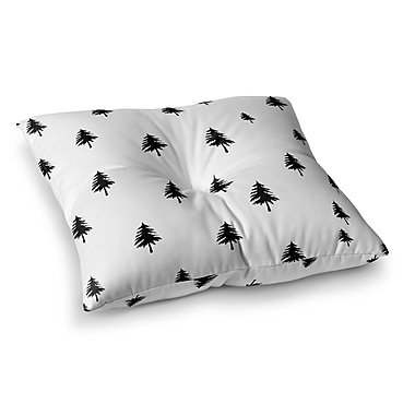 East Urban Home Suzanne Carter Pine Tree Square Floor Pillow; 23'' x 23''